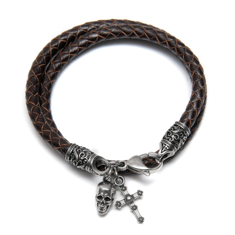 Bracelet Pisco brown-Santa Muerte Paris
