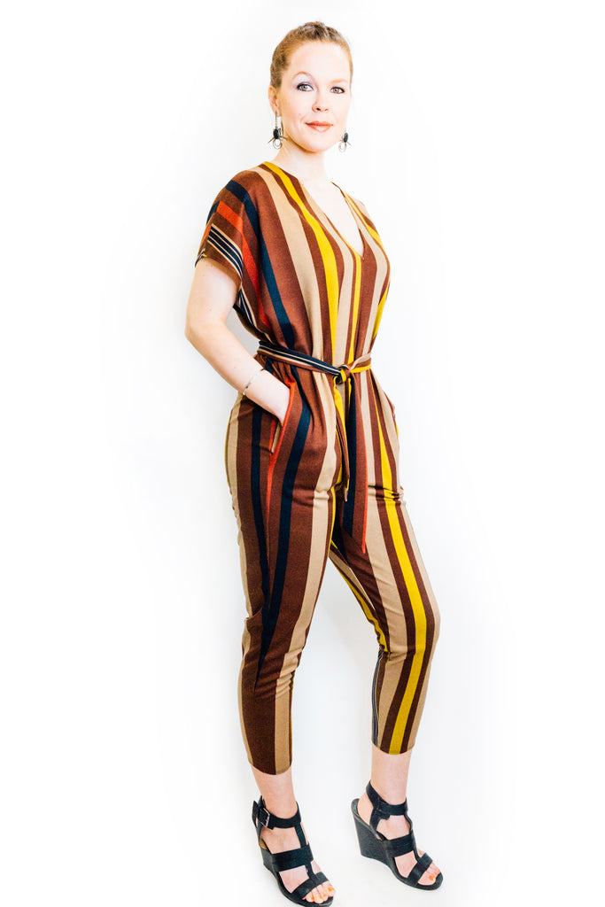 Flux Jumpsuit in Multi Stripe