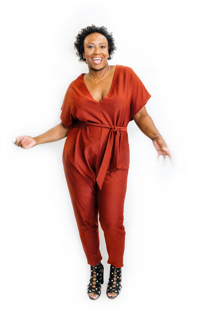 Flux Jumpsuit in Heather Red