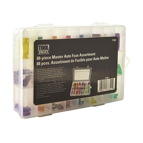 77301, Master Auto Fuse Assortm-88pc