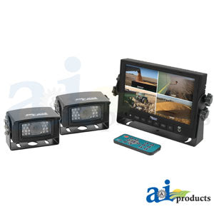 "CC7M2CQR, CabCAM Video System, Quad (Includes 7"" Digital Touch Screen TFT LCD Monitor and 2 Cameras)"