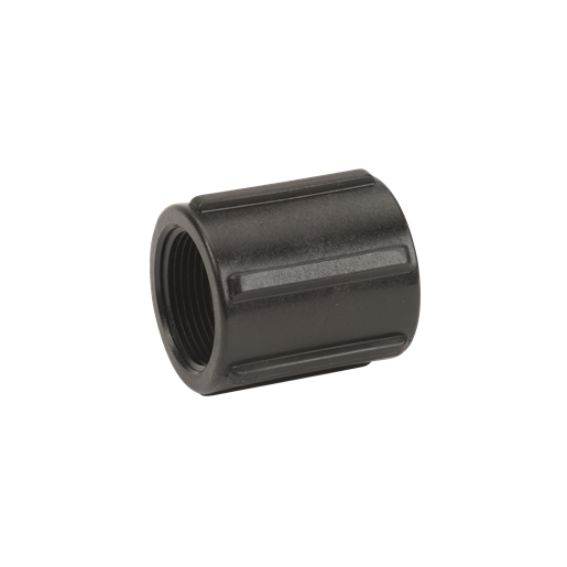 "CPLG125, 1 1/4"" POLY PIPE COUPLING"