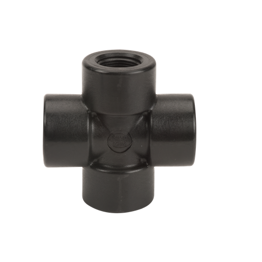 "CR075, 3/4"" POLY PIPE CROSS"