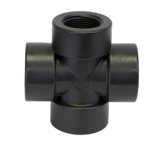 "CR125, 1-1/4"" POLY PIPE CROSS"