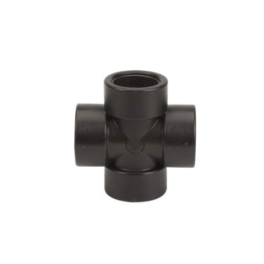 "CR150, 1-1/2"" POLY PIPE CROSS"