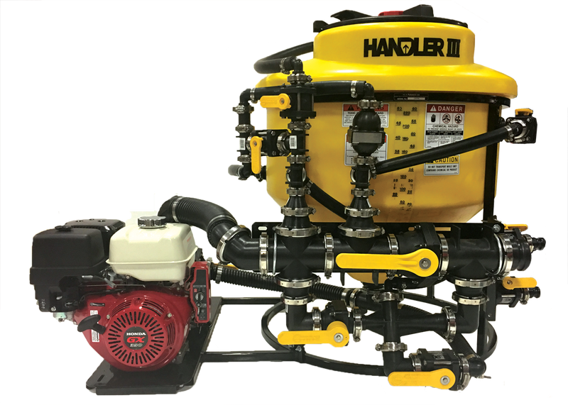 "85-H33HDP13, HANDLER III - 3"" , HIGH FLOW AND PRESSURE, 3"" - 13HP PUMP 70 US GAL/275L 3"" CAMLOCK CONNECTIONS 16"" HINGED AND LOCKABLE LID 2"" DUAL PORT VENTURI ROTACRAFT TANK RINSING NOZZLE 3"" HYPRO PUMP/GX390 HONDA ELECTRIC START (12V POWER NOT INCLUDED)"