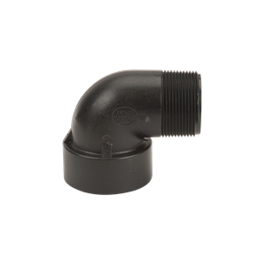 "SL150-90, 1-1/2""Poly Street Elbow-90Degr"