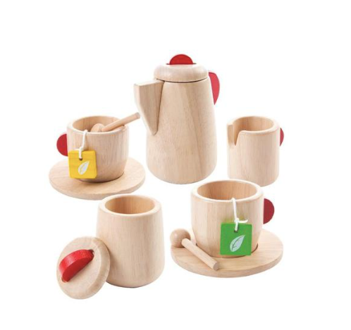 Wood Toy Tea Set