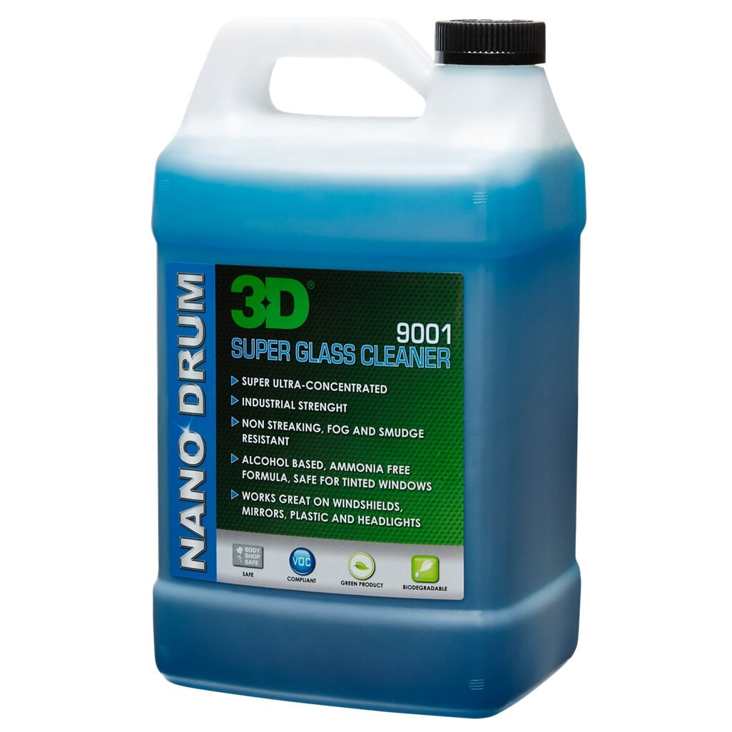 LIMPIA VIDRIOS GLASS CLEANER PARA VEHICULOS  , 1 GALON , MOD 9001G01 , 3D - HNL INDUSTRIAL TOOLS