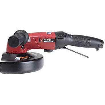 "Amoladora angular , Capacidad de disco 180 mm (7"") , Longitud 340 mm , Velocidad libre 8500 RPM , MOD CP-3850-85AB7V , CHICAGO PNEUMATIC"
