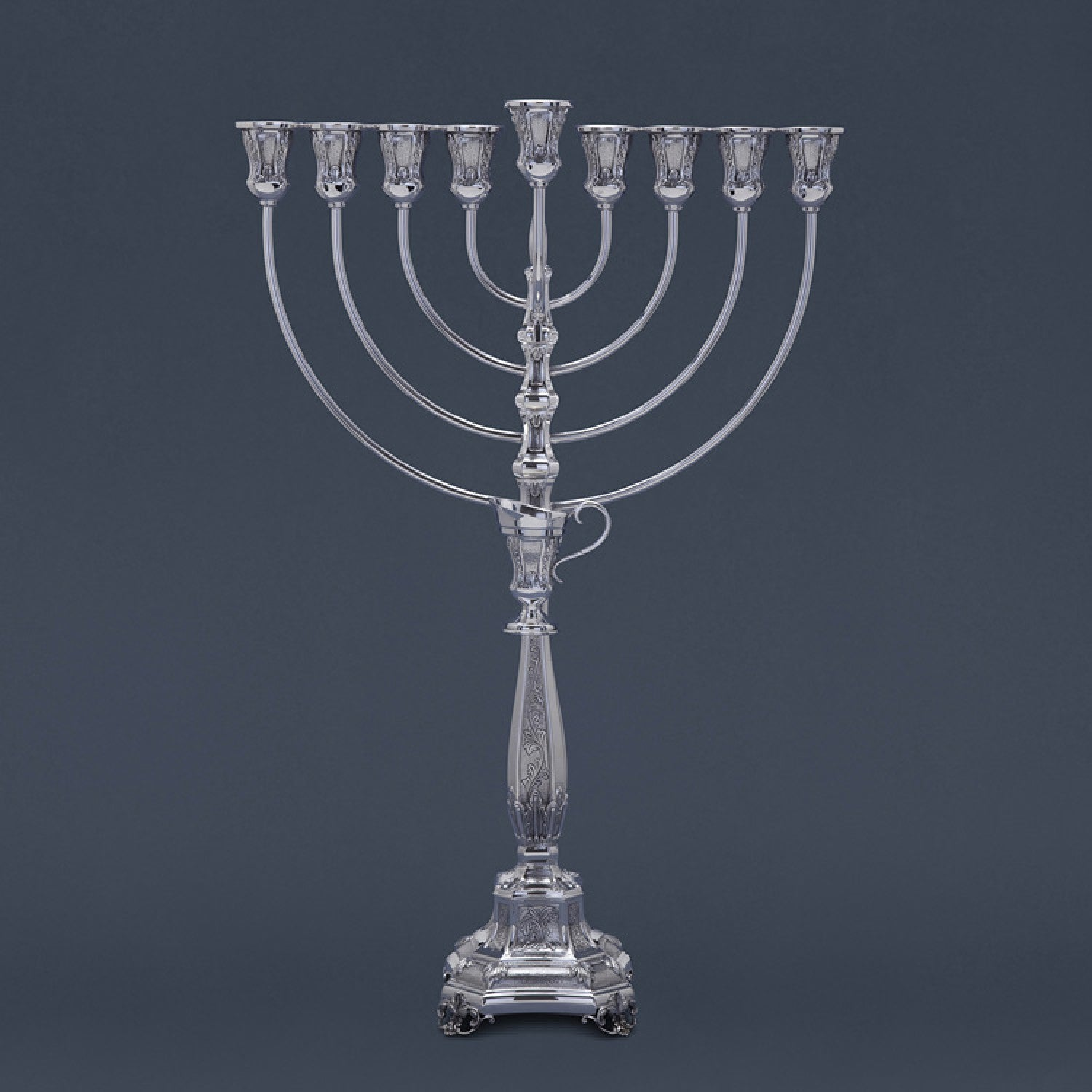 Bakio Decorated Smooth Branch Menorah