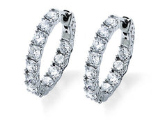 3.6 Carat White Gold Hoop Earrings