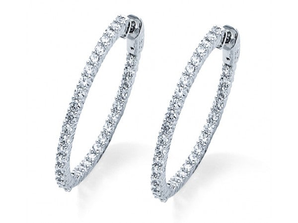 2CT Diamond Hoop Earrings