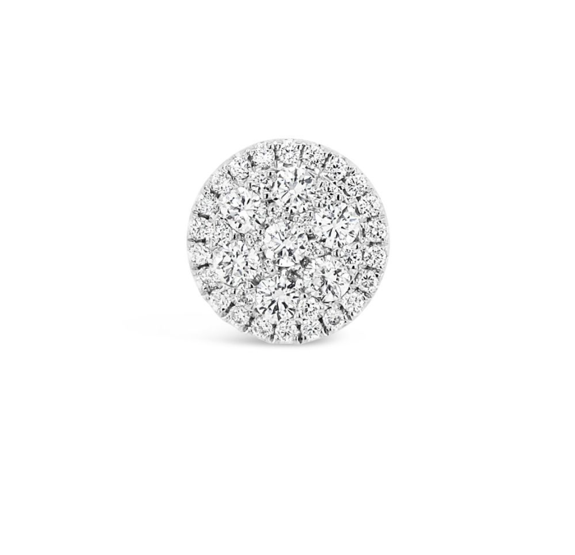 Round Cut White Gold Diamond Stud Earrings