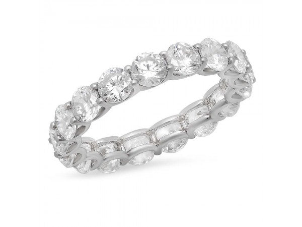 White Gold Round Cut Diamond Eternity Band