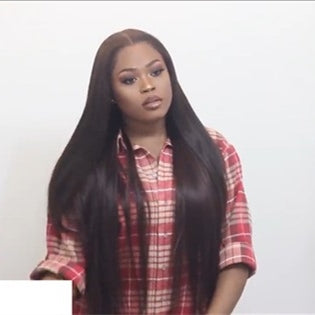 2019 New Flawless Lacewig Install & Easy/Safe Removal Straight hair
