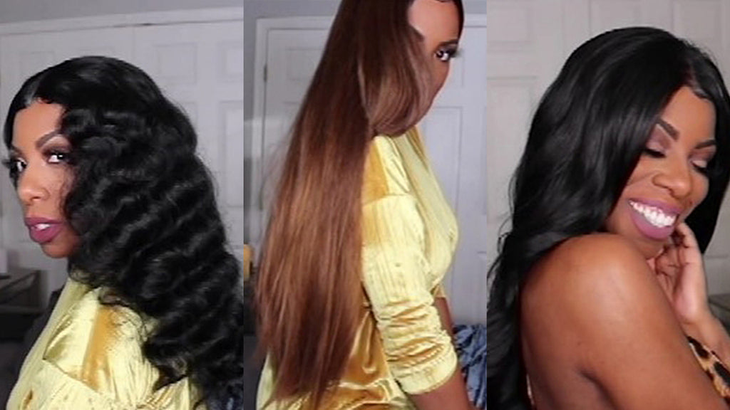 2019 New Under $30 Super Natural Curly Wave  Straight Wig