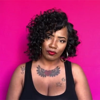 2019 NEW GLUELESS SHORT CURLY 7'' WIG