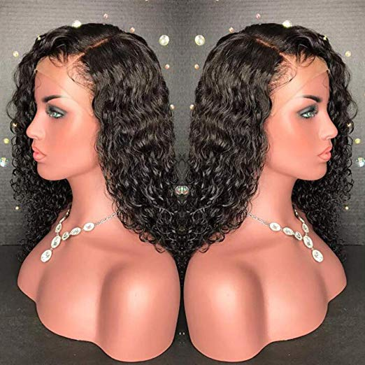 2019 New Glueless Wigs for Black Women Wave Basic Cap Lace Front Wig (22inch with 130 density,Frontal Lace Wig)