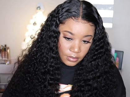 2019 New Lace Frontal Natural Deep Water Wave Wig