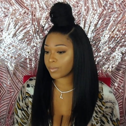 2019 New Kinky Straight Natural LACE FRONT WIG WITH 3 STYLES