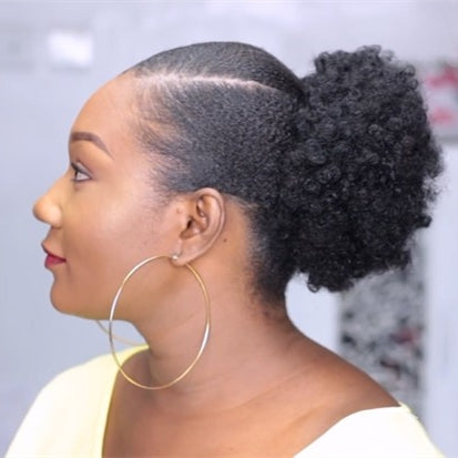 2019 New African Afro Bun Short Kinky Curly Wrap Drawstring Puff Ponytail Bun