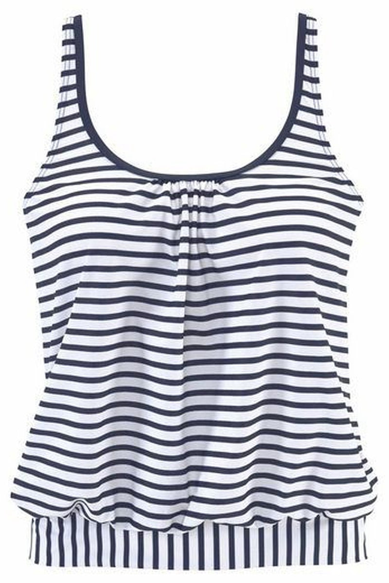 MIX PRINT STRIPE TANKINI SET