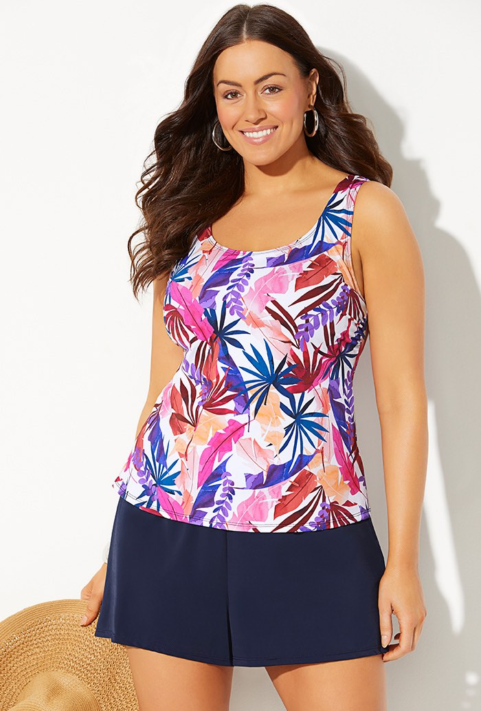BOTANICAL CLASSIC TANKINI WITH LOOSE SHORT
