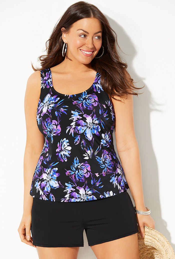 WILDFLOWER CLASSIC TANKINI WITH LOOSE SHORT
