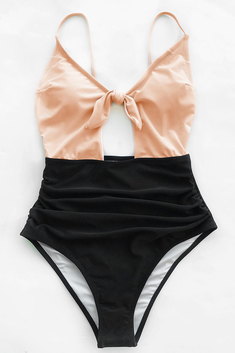Sweet Honey Bowknot One-piece Swimsuit