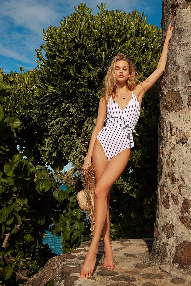 Stay Young Stripe One-piece Swimsuit