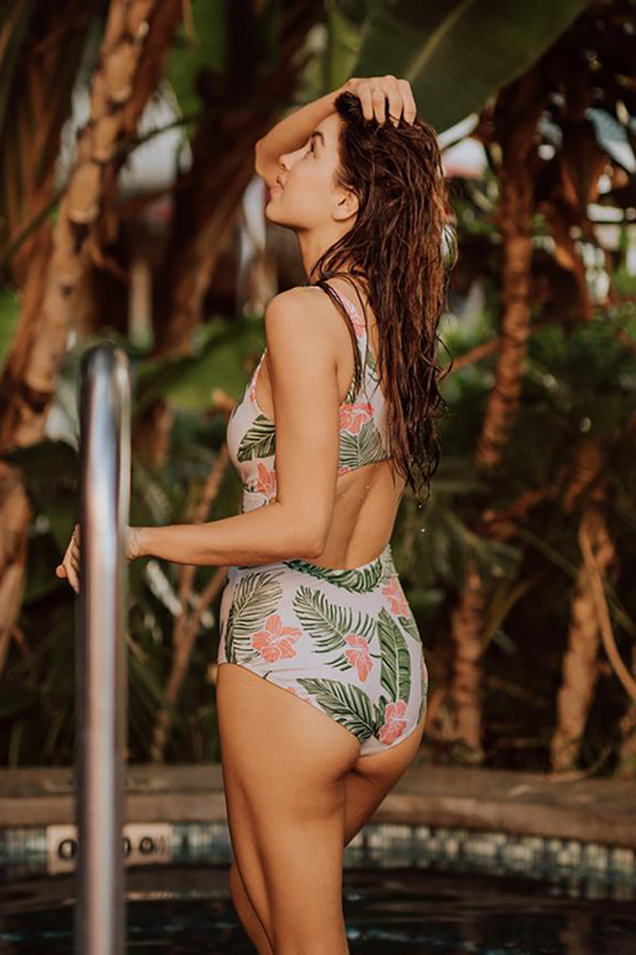 ALOHA TOP KNOT ONE PIECE