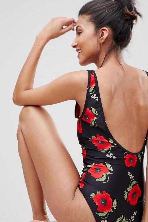 Tall Floral Printed Swimsuit