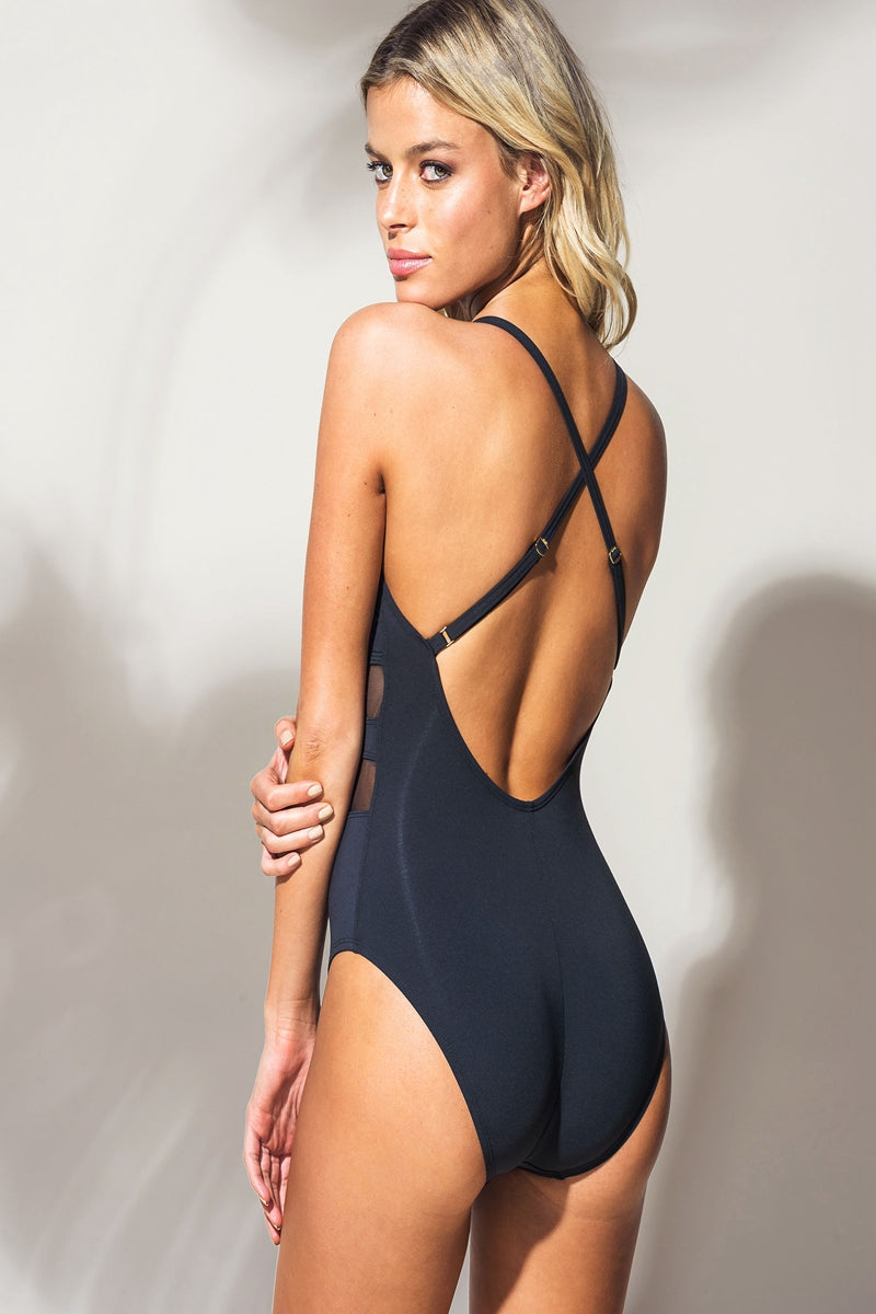 DO NOT MESH WITH ME ONE PIECE SWIMSUIT