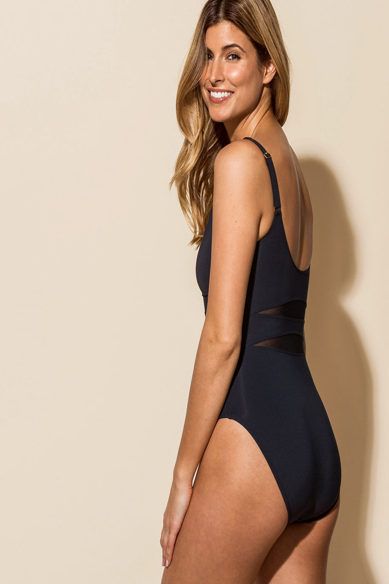 DON'T MESH ME ONE-PIECE SWIMSUIT