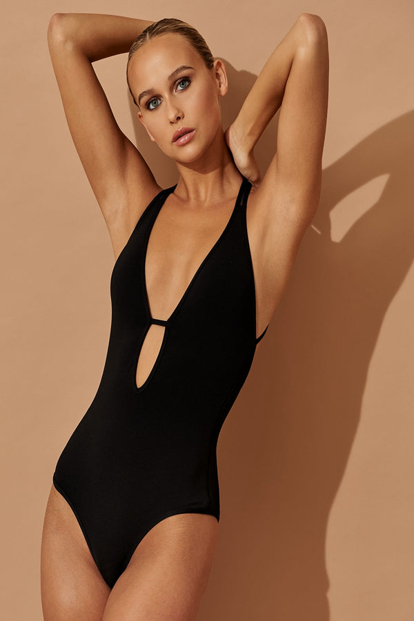 ASPIRE PLUNGING NECKLINE ONE-PIECE SWIMSUIT