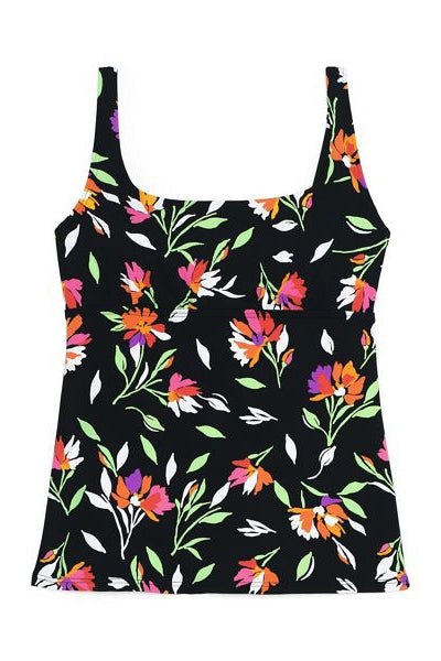 D-Cup Beach Living Print Square Neck Tankini