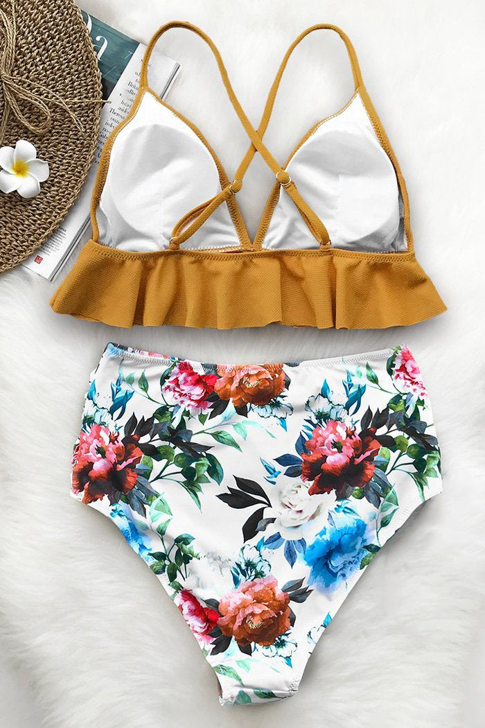 Rambling Rose Falbala Bikini Set
