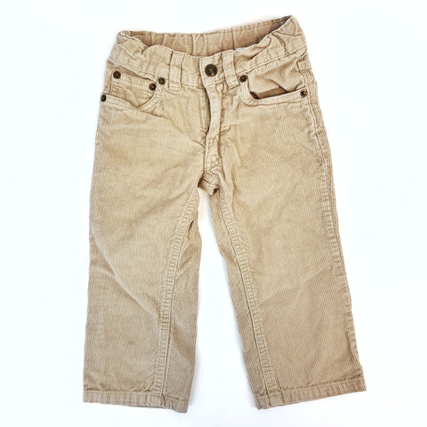 2T Tan Corduroy Pants - Wild Child