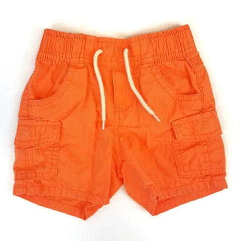 12-18mo Bright Orange Shorts - Wild Child