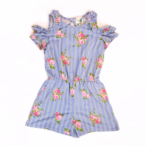 6x Cold Shoulder Roses Romper - Wild Child