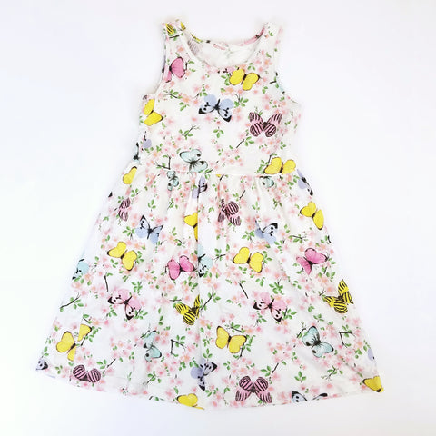 6-8y White Butterfly Tank Dress - Wild Child