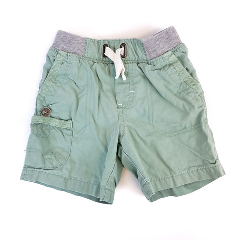 18mo Green Khaki Shorts - Wild Child