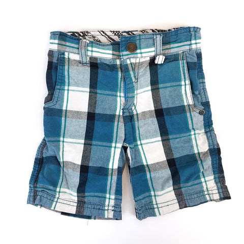 3t Turquoise Plaid Shorts - Wild Child