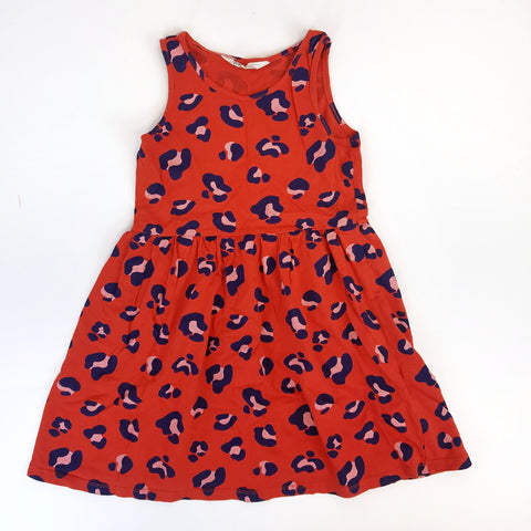6-8y Burn Orange Animal Print Tank Dress - Wild Child