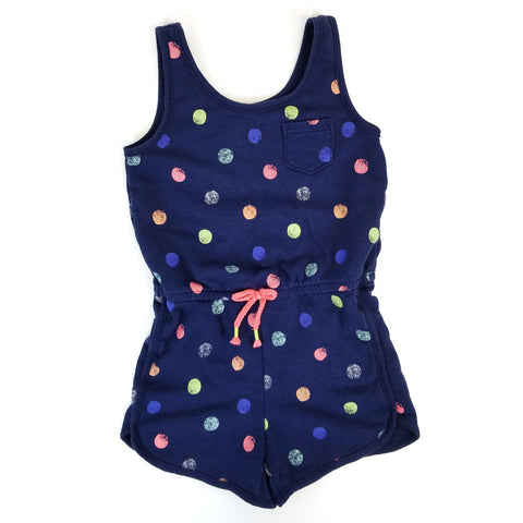 7/8 Navy Polkadot Jumper - Wild Child