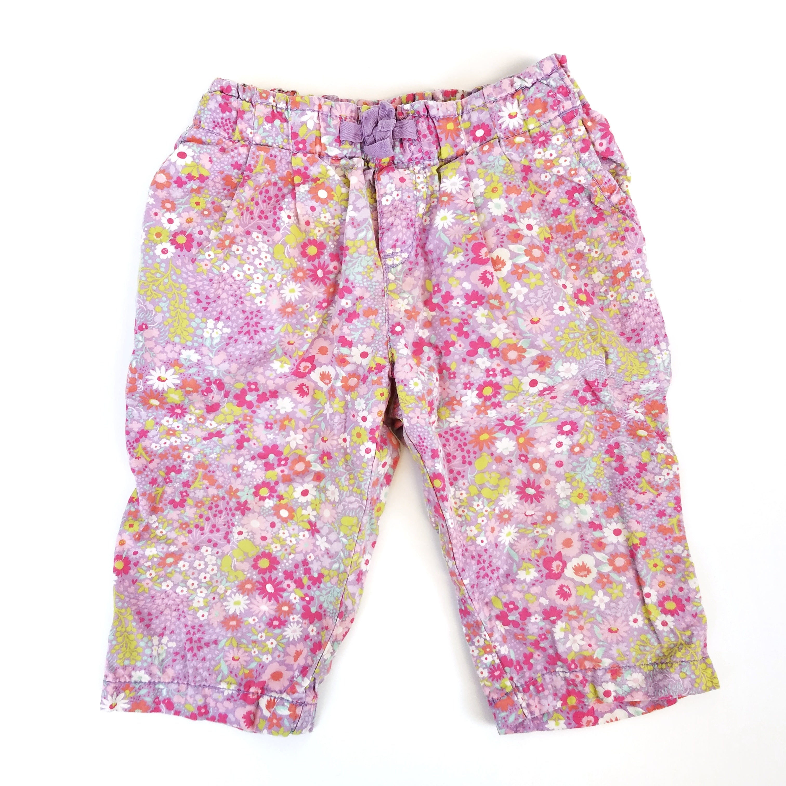 3t Purple Floral Pants - Wild Child