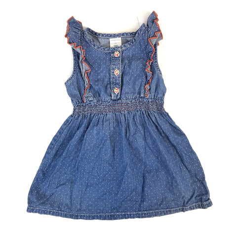 2t Denim Ruffle Tank Dress - Wild Child