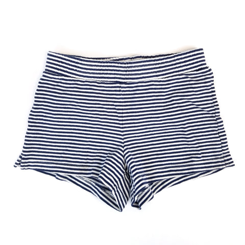 Sz 7-8 Black + White Stripe Shorts - Wild Child