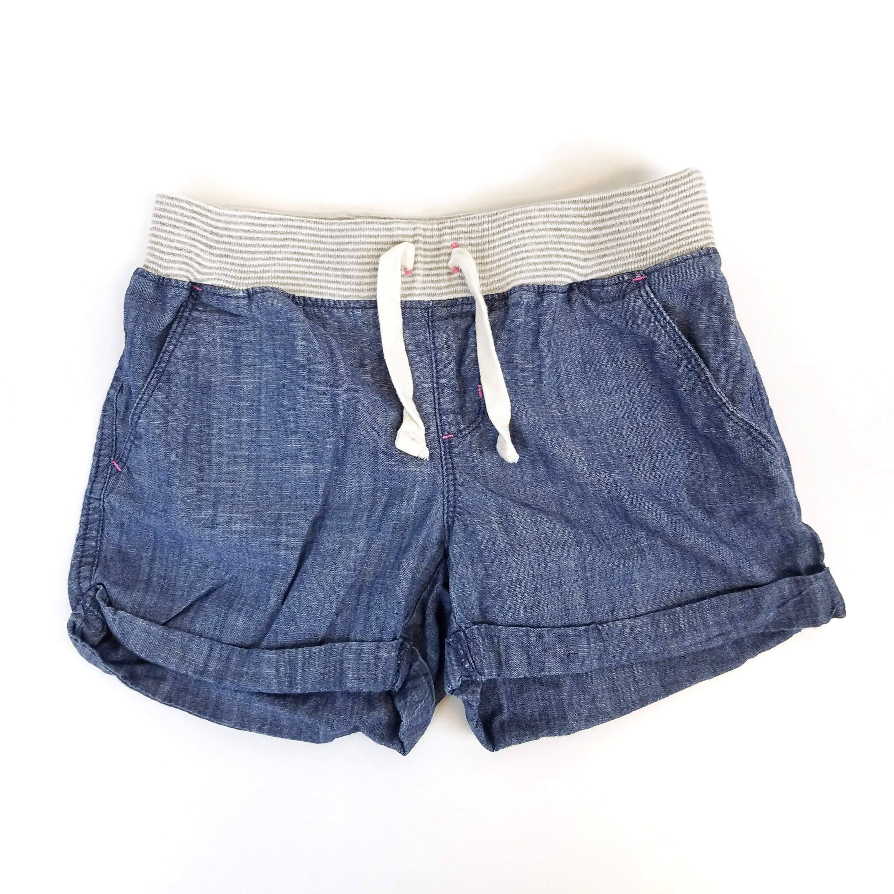 Sz 8 Soft Waist Chambray Shorts - Wild Child